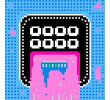 Pink Pixel Vomit Photographic Print