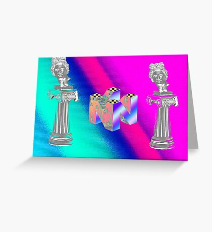 vaporwave at it's finest Greeting Card