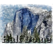 Rock Climbing Yosemite Half Dome Abstract Photographic Print
