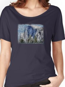 Rock Climbing Yosemite Half Dome Abstract Women's Relaxed Fit T-Shirt