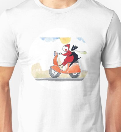 Red & Wolf in Rome Unisex T-Shirt