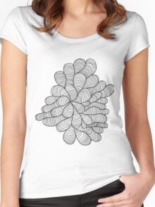 Doodles in Black Women's Fitted Scoop T-Shirt
