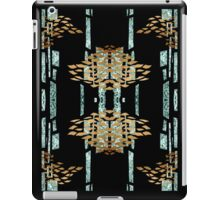 Metallic blue and gold pattern iPad Case/Skin