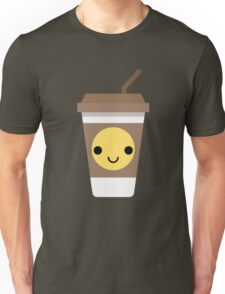 Coffee Cup Emoji Happy Smiling Face Unisex T-Shirt