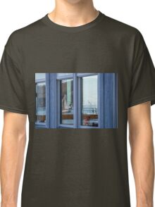Wall Art in the Reflections an Ocean seascape sailing seagull Classic T-Shirt