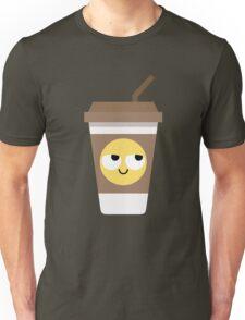 Coffee Cup Emoji Think Hard and Hmm Unisex T-Shirt