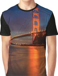 Golden Gate Bridge Last Light Graphic T-Shirt