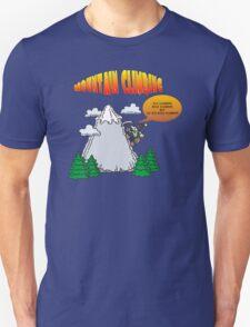Funny Rock Climbing Cartoon Unisex T-Shirt