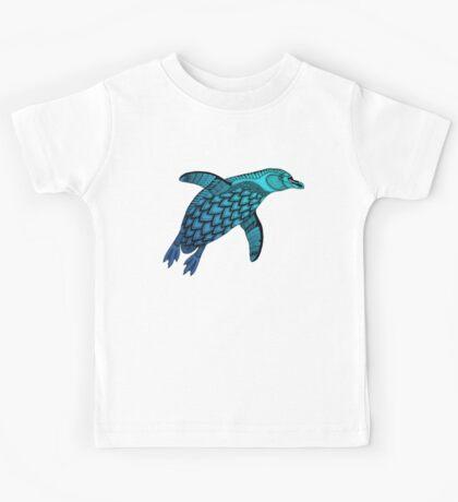 Aqua Penguin Kids Tee