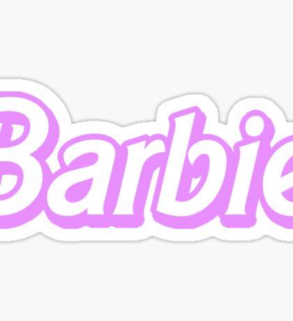 Pink Barbie Sticker