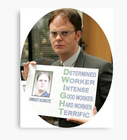 Dwight Schrute The Office TV Show Canvas Print