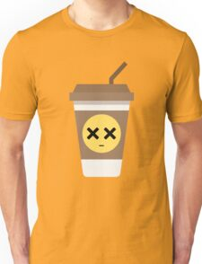 Coffee Cup Emoji Faint and Knock Out Unisex T-Shirt