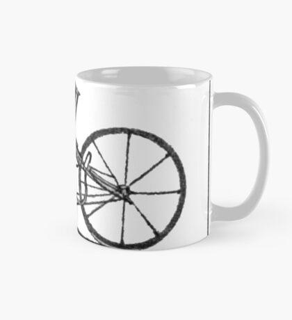 The very first motorbike or steam velocipede Mug