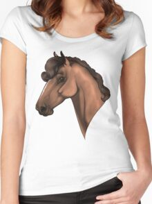 Horse Headshot Women's Fitted Scoop T-Shirt