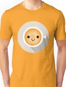 Gourmet Coffee Emoji Happy Smiling Face Unisex T-Shirt