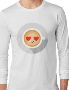 Gourmet Coffee Emoji Heart and Love Eye Long Sleeve T-Shirt