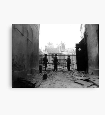 WWII --- U.S. soldiers in Argentan, France Canvas Print