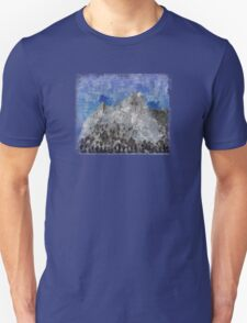 Rock Climbing Cathedral Peak Abstract Unisex T-Shirt