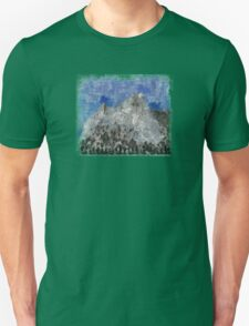 Rock Climbing Cathedral Peak Abstract T-Shirt