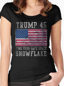 Trump 45 Suck It Up Buttercup Women's Fitted Scoop T-Shirt
