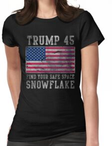 Trump 45 Suck It Up Buttercup Womens Fitted T-Shirt
