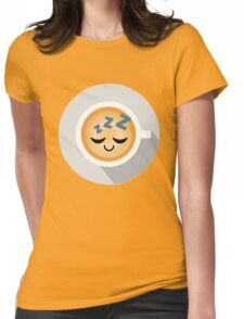 Gourmet Coffee Emoji Sleep and Dream Womens Fitted T-Shirt