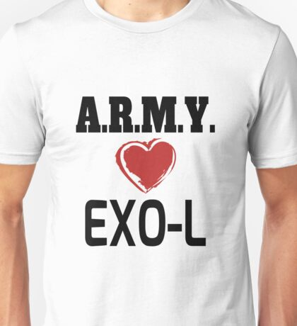 ARMY Loves EXO-L Unisex T-Shirt