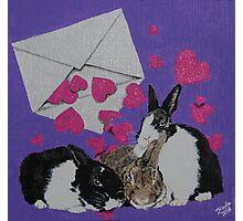 Bunny Anytime Valentines - Design Seventeen Photographic Print