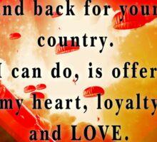 Love for Veterans Sticker