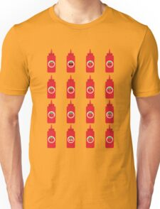 Ketchup Sauce Emoji Different Facial Emotion Unisex T-Shirt