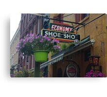 economy shoe shop in canada Canvas Print