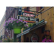 economy shoe shop in canada Photographic Print