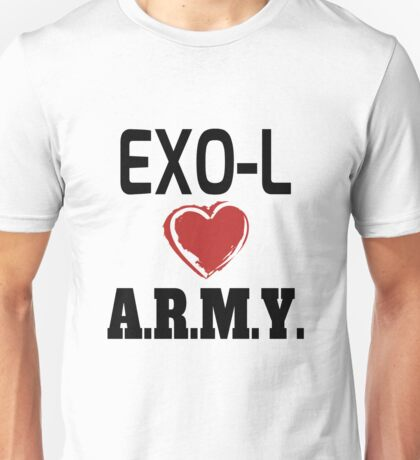 EXO-L Loves ARMY Unisex T-Shirt
