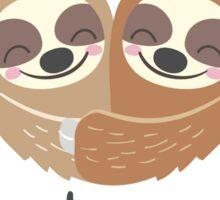 Cute Valentine Sloths Love Hats Sticker