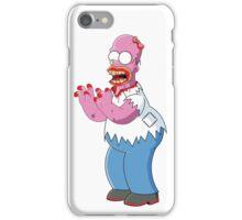 Bloody Homer Simpson Zombie  iPhone Case/Skin