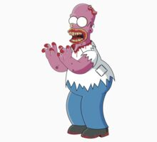 Bloody Homer Simpson Zombie  by HectorGonzalez