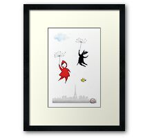 Red & Wolf in Paris Framed Print