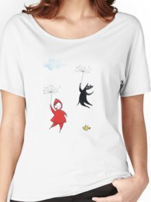 Red & Wolf in Paris Women's Relaxed Fit T-Shirt
