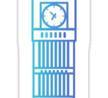 Flat icon - Big Ben White Sticker