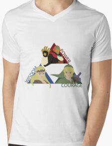 Three Opposing Forces Mens V-Neck T-Shirt