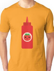 Ketchup Sauce Emoji Cheeky and Up to Something Unisex T-Shirt