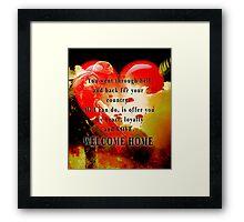 Love for Veterans Framed Print