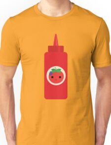 Ketchup Sauce Emoji Speechless with Sweat Unisex T-Shirt