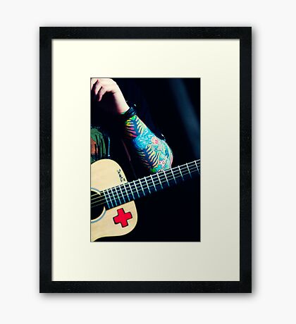Ed Sheeran Tattoos Framed Print