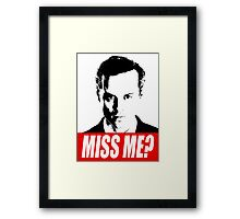 Miss Me? - Jim Moriarty - Sherlock Framed Print