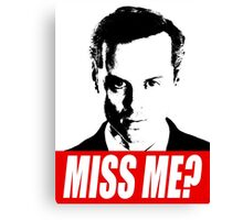 Miss Me? - Jim Moriarty - Sherlock Canvas Print
