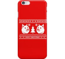 DOGE UGLY CHRISTMAS SWEATER PATTERN iPhone Case/Skin