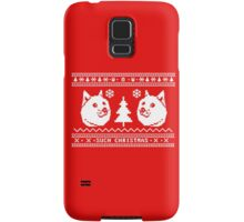 DOGE UGLY CHRISTMAS SWEATER PATTERN Samsung Galaxy Case/Skin