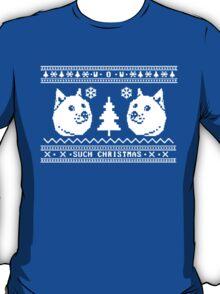 DOGE UGLY CHRISTMAS SWEATER PATTERN T-Shirt