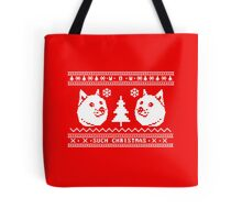 DOGE UGLY CHRISTMAS SWEATER PATTERN Tote Bag